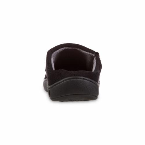 Isotoner® Men's Logan Hoodback Slippers - Herringbone Perspective: back