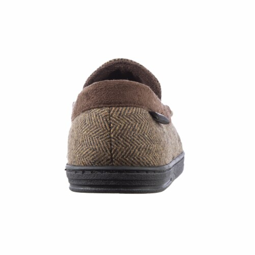 Isotoner­® Herringbone Logan Moccasin Men's Slippers Perspective: back