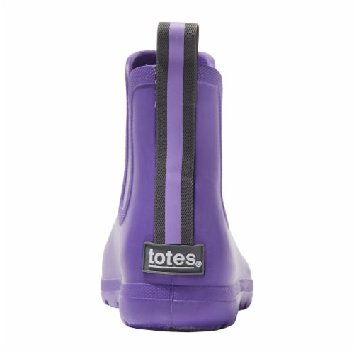 Totes® Toddler's Chelsea Short Rain Boots - Purple Paisley Perspective: back