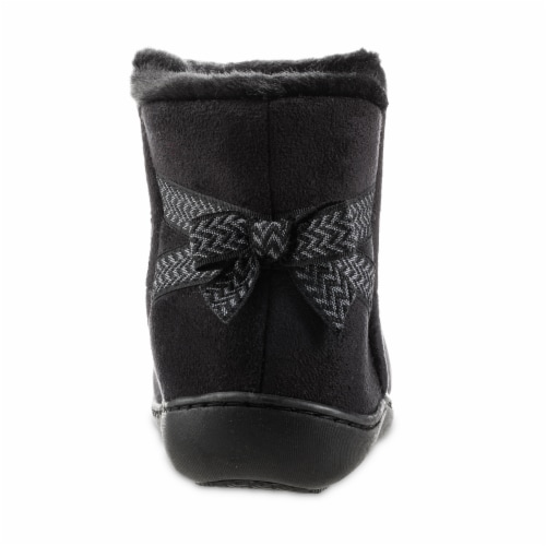 Isotoner® Microsuede Nelly Trim Detail 360 Comfort Boot Perspective: back