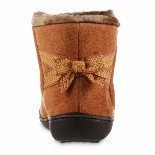 Isotoner­® Microsuede Nelly Trim Detail 360 Comfort Boot Perspective: back