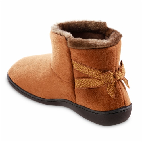 Isotoner® Women's Nelly Boot Slippers Perspective: back
