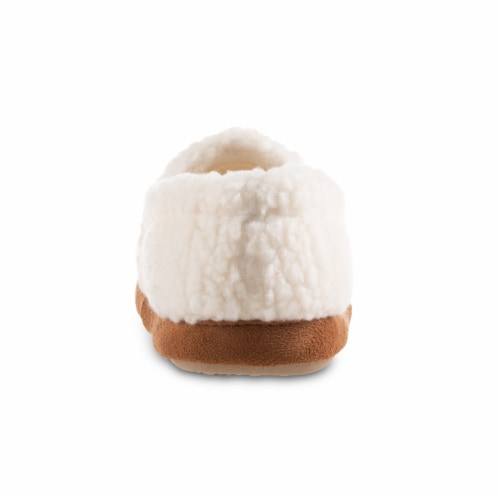Isotoner® Happy Sheep Berber A-line Slippers - White Perspective: back