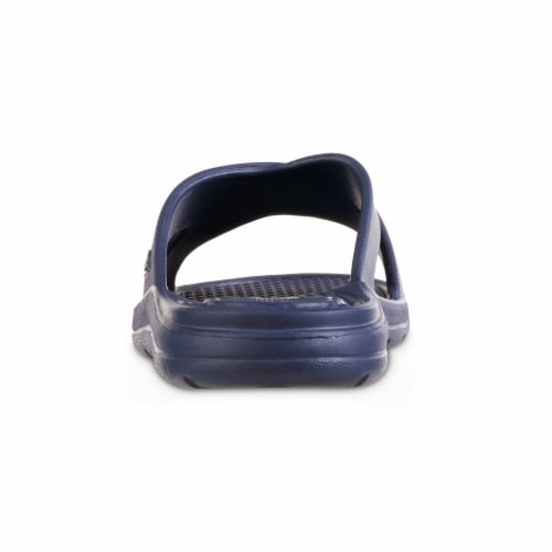 Totes Ara Cross Slide Women's Sandals - Navy Blue Perspective: back