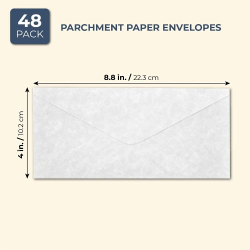 Juvale Parchment Paper Envelopes (48 Count), Gray Perspective: back
