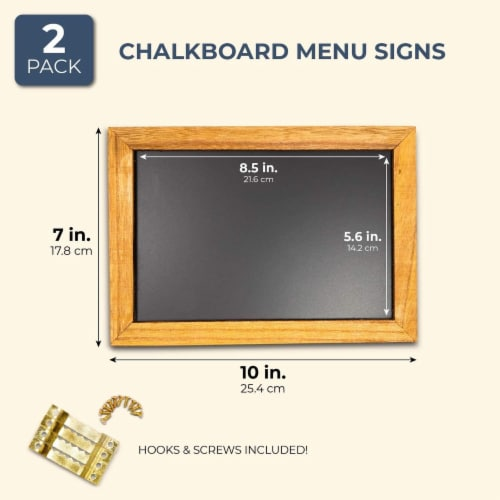 Blue Panda Chalkboard Menu Sign 2 Pack - Vintage menu Sign 10 x 7 inches Perspective: back