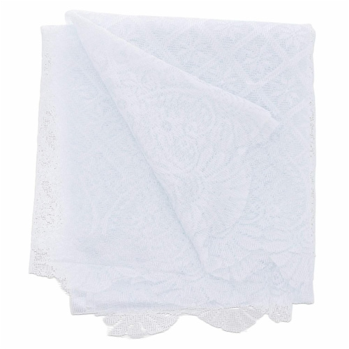 Juvale Lace Table Cloth Runner for Dinners and Parties (13 x 72 in, White) Perspective: back