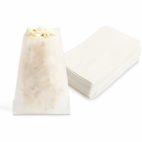 Wax Paper Goodie Snack Bags (4.75 x 6.5 in, 200 Pack, White) Perspective: back