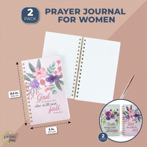 Spiral Notebook with Scripture (5 x 8.5 in, 2 Pack) Perspective: back