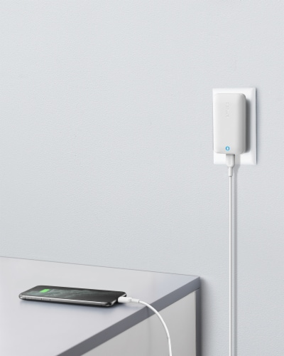 Anker PowerPort Atom III 30W Wall Charger - White Perspective: back