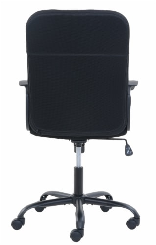Living Style Ansel Office Chair - Black Perspective: back