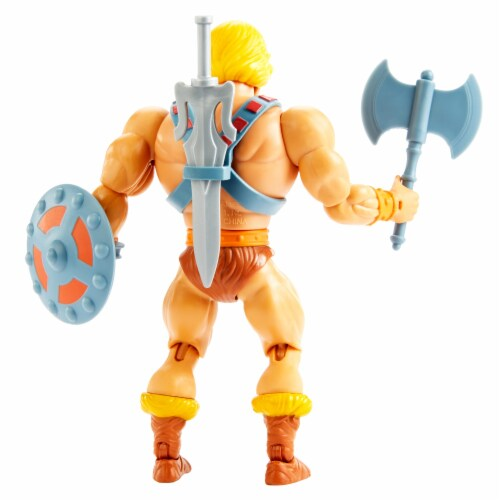 Mattel Masters of the Universe Origins He-Man Action Figure Perspective: back