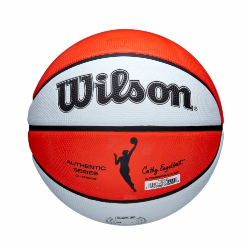 Wilson Sporting Goods WNBA Authentic Outdoor Official Women's Size Basketball - Orange/White Perspective: back