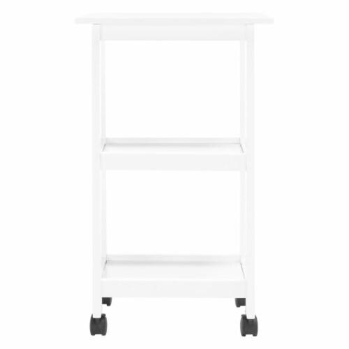 Bevin 2 Shelf Kitchen Cart White Perspective: back