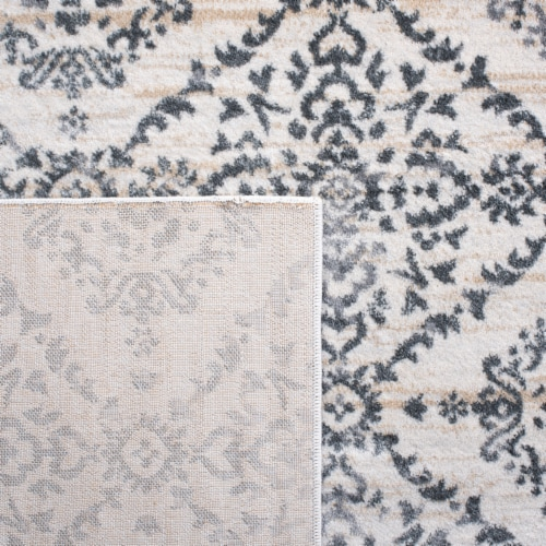 Martha Stewart Collection Isabella Accent Rug - Cream/Gray Perspective: back