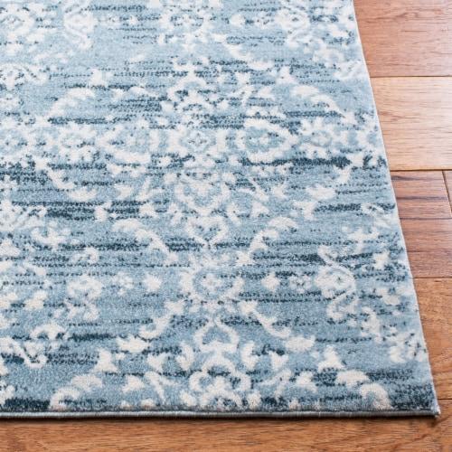 Safavieh Martha Stewart Isabella Floor Runner Rug - Denim Blue/Ivory Perspective: back