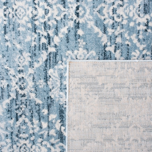 Martha Stewart Collection Isabella Area Rug - Denim Blue/Ivory Perspective: back