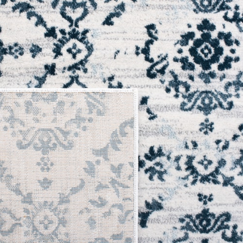 Safaveigh Martha Stewart Collection Isabella Area Rug - Navy/Ivory Perspective: back