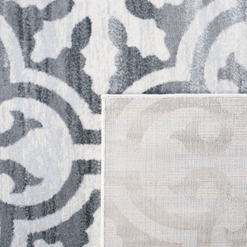 Safavieh Martha Stewart Collection Isabella Accent Rug - Gray/Ivory Perspective: back
