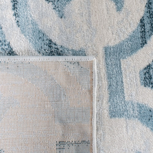 Martha Stewart Collection Isabella Area Rug - Navy/Ivory Perspective: back