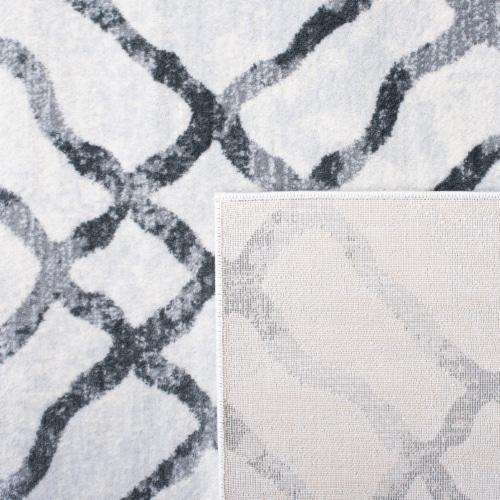 Martha Stewart Isabella Round Rug - Ivory/Gray Perspective: back