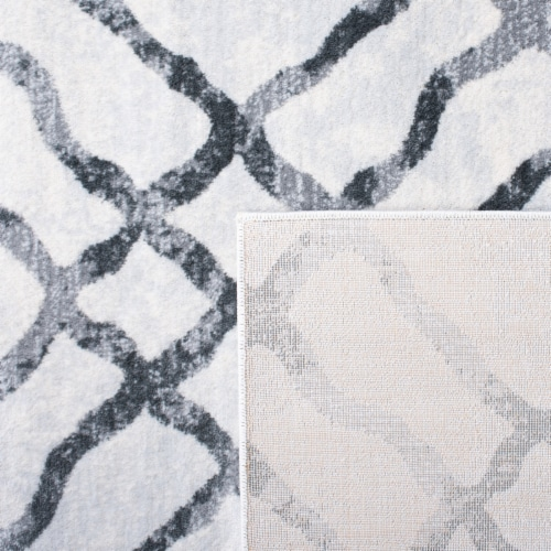 Martha Stewart Isabella Square Rug - Ivory/Gray Perspective: back