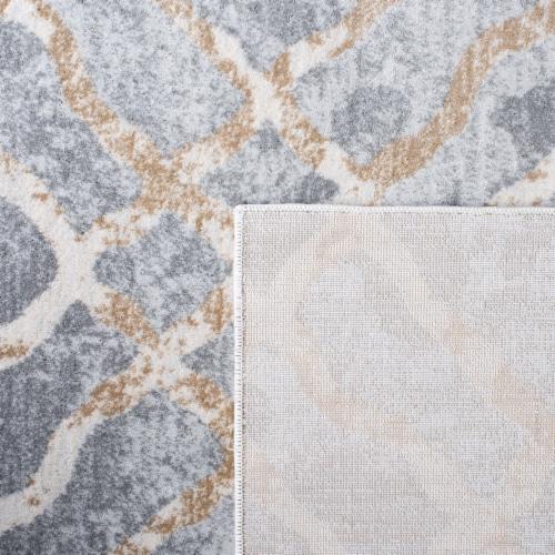 Martha Stewart Isabella Rug - Silver/Ivory Perspective: back