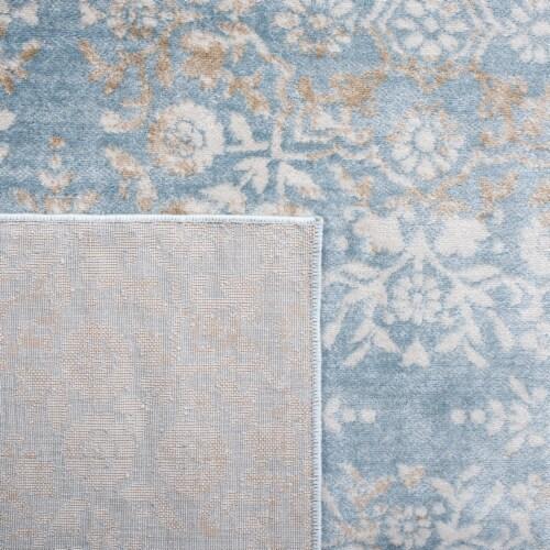 Martha Stewart Isabella Rug - Demin Blue / Ivory Perspective: back