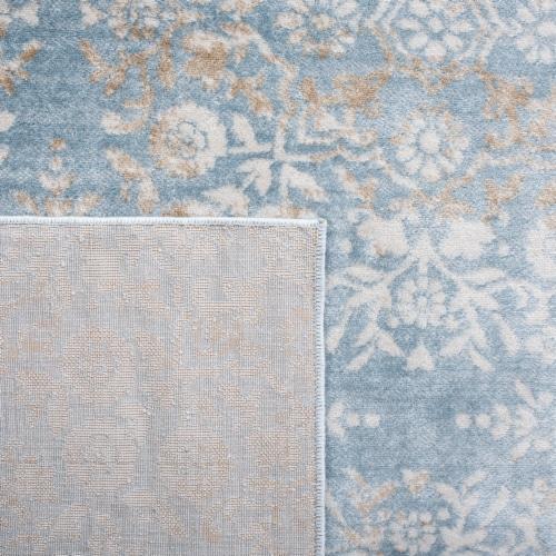 Martha Stewart Isabella Square Rug - Denim Blue/Ivory Perspective: back