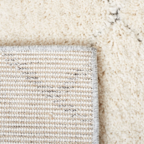 Martha Stewart Collection Lucia Shag Rug - Light Gray/White Perspective: back
