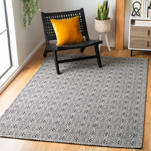 Martha Stewart Cotton Area Rug - Charcoal/Gray Perspective: back