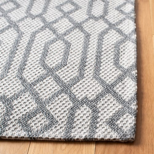 Martha Stewart Cotton Area Rug - Silver/Gray Perspective: back