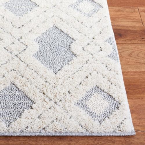 Safavieh Martha Stewart Lucia Shag Area Rug - White/Light Gray Perspective: back