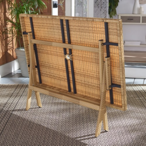 Akita Folding Table Natural / White Perspective: back