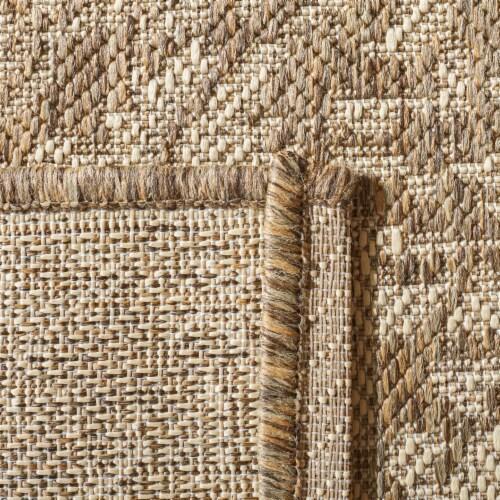 Martha Stewart Beach House Indoor Outdoor Rug - Cream/Beige Perspective: back