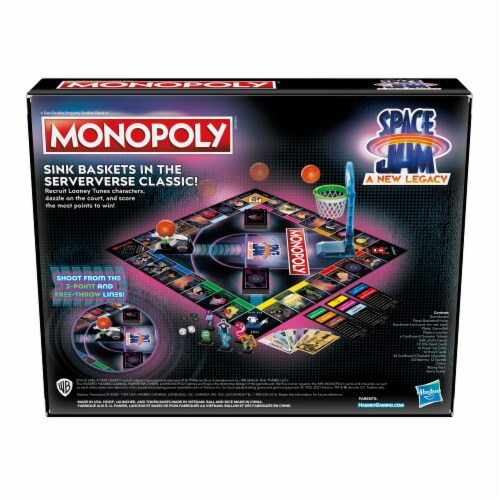 Hasbro Gaming Monopoly: Space Jam: A New Legacy Edition Perspective: back