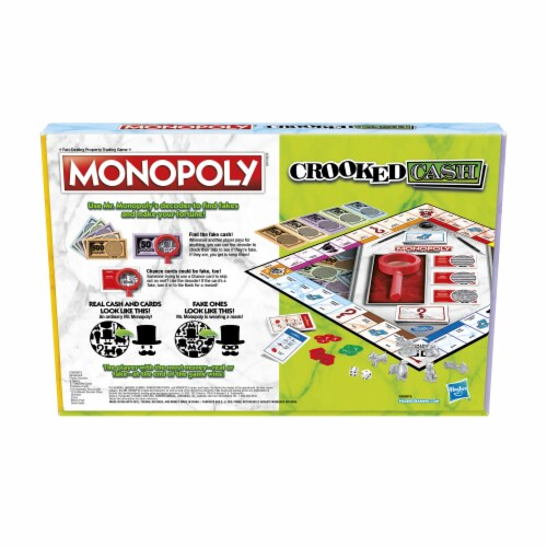 Hasbro Gaming Monopoly Crooked Cash Board Game Perspective: back