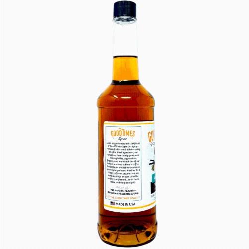 Vanilla Syrup, All Natural, Vegan, Gluten-Free, Non-GMO Cane Sugar (25.4 Fluid Ounce Bottle) Perspective: back