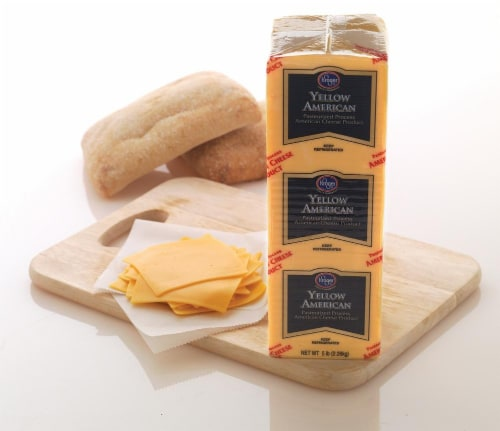 Grab & Go Kroger Yellow American Cheese Perspective: back