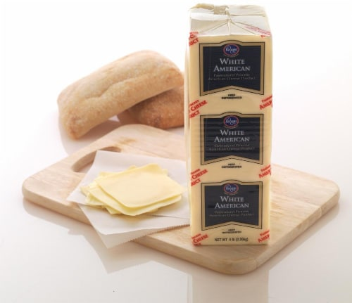 Kroger® Grab & Go White American Cheese Perspective: back