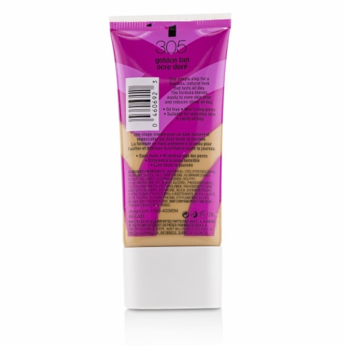 Covergirl Ready Set Gorgeous Oil Free Foundation  # 305 Golden Tan 30ml/1oz Perspective: back