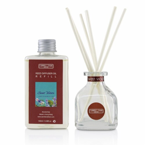 The Candle Company (Carroll & Chan) Reed Diffuser  Sweet Violets 100ml/3.38oz Perspective: back