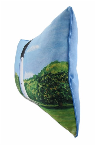 Betsy Drake Huntington Island In/Outdoor Decorative Throw Pillow 16in.X20in. Perspective: back