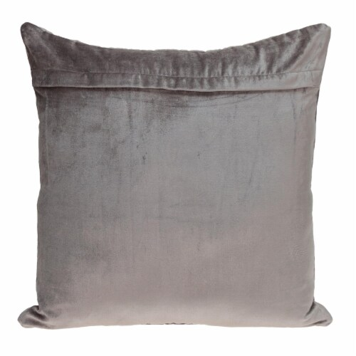 Parkland Collection Basil Transitional Taupe Throw Pillow Perspective: back