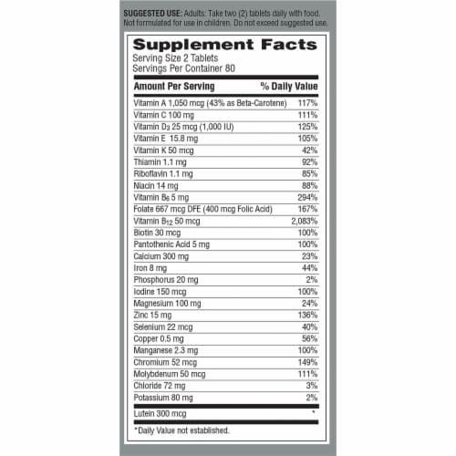 Centrum® Women's 50+ Multi-Vitamin Mini Tablets Perspective: back