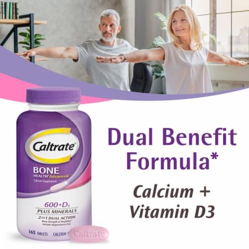 Caltrate® 600 + D3 Calcium Plus Minerals Tablets Perspective: back