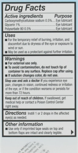 Refresh Optive Advanced Triple-Action Relief Lubricant Eye Drops Perspective: back