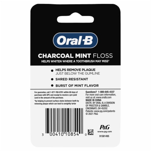 Oral-B Charcoal Mint Floss Perspective: back