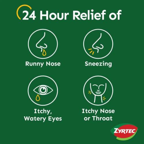 Zyrtec Indoor & Outdoor Allergy Relief Tablets 10mg Perspective: back