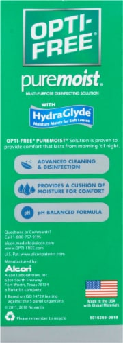Opti-Free PureMoist Multi-Purpose Disinfecting Solution Perspective: back